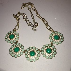 Pretty green tone statement necklace